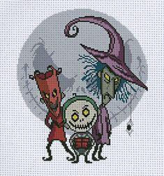 Pagan Cross Stitch, Fall Cross Stitch, Geek Cross Stitch, Funny Cross Stitch Patterns, Cross Stitch Baby, Cross Stitch Designs, Cross Stitching, Cross Stitch Embroidery, Pixel Pattern