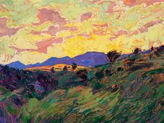 Paso Clouds - Contemporary Impressionism Art Gallery in San Diego - Modern Landscape Oil Paintings for Sale by Erin Hanson