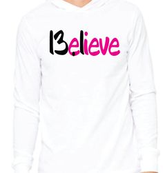 Believe 13.1 Half Marathon Running Unisex Jersey Long-Sleeve Hoodie Super Comfy Soft Perfect for Running Workout Gift Ladies Mens