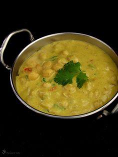 Recepty z Indie: Cicer v kesu omacke Vegan Keto, Vegan Food, Vegetarian Curry, India Food, Garam Masala, Coconut Milk, Vegan Recipes, Beans, Indie