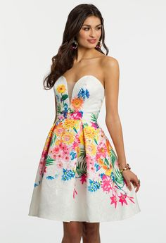 Strapless Floral Sho