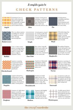 Find out what types of pattern are used in fashion design and how you can choose patterns to add interest and detail to your concept wardrobe. Motifs Textiles, Textile Patterns, Textile Design, Color Patterns, Print Patterns, Pattern Print, Fashion Terminology, Vetements Clothing, Fashion Dictionary