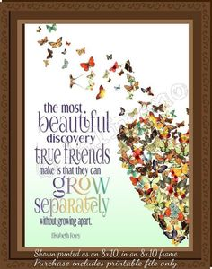 The most beautiful discovery true friends make is that they can grow separately without growing apart. Farewell Parties, Farewell Gifts, Farewell Quotes, Goodbye Party, Goodbye Gifts, Gift Quotes, True Quotes, Bestie Gifts, Friend Gifts