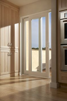 Sliding French doors are great for smaller entry places. #DesignTip