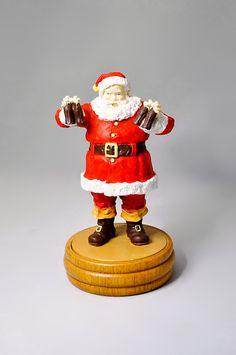 Coca Cola Santa Figurine 1989 Original Box by StarfishCollectibles Coca Cola Santa, Santa Figurines, Polar Bears, Coke, The Originals, Collection, Jewerly, Coca Cola, Cola