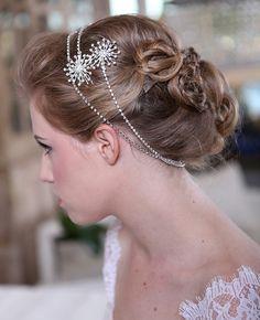 Winter Wedding Crystal Snowflakes Crystal Hair by GildedShadows, $88.00