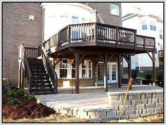 Modern Build A Free Standing Deck Design ~ http://lovelybuilding.com/how-to-build-a-free-standing-deck/