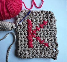 Punto de cruz en crochet