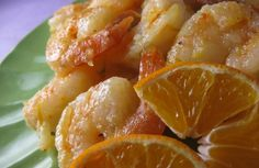 Orange-Ginger Prawns — A glaze like coating surrounds these shrimp with an essence of orange & ginger. The zest of the orange is the star ingredient. If you are without a handy-dandy microplane or grater, you can peel the orange thinly avoiding the white pith and then finely, finely chop it. When purchasing shrimp, seek it out from the US or Canada. Lately, imported shrimp is regularly coming from unsustainable farms that use high levels of antibiotics and other containments worth avoiding.