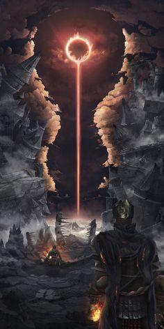 ArtStation - Seeker of fire, Saverio Solari - Dark Souls - Game Art Dark Souls 3, Dark Fantasy Art, Fantasy Artwork, Dark Artwork, Fantasy Places, Fantasy World, Art Noir, Soul Art, Fantasy Landscape