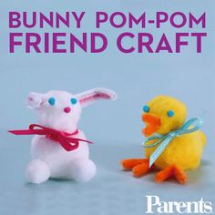 Watch: You can make these adorable pom-pom friends in just a few simple steps!