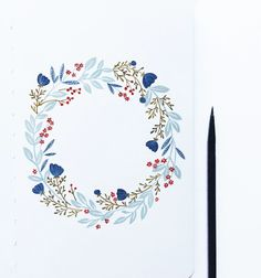 How to: Paint a Floral Wreath
