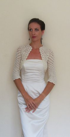 Wedding Bridal Shrug Bridesmaids Bolero crochet with ivory angora on Etsy, $79.00.  I loved this shrug it was beautiful, but I never wore it (day was too warm). If you would like to buy it I will sell it for $45. Message me if interested