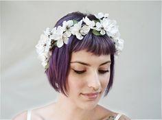 Cherry Blossom, Flower Crown - Bridal Flower Crown, Floral Crown, Bridal Headpiece, Bridal Accessory, Floral Headpiece, Ivory & Pearl, Boho by BloomDesignStudio on Etsy https://www.etsy.com/listing/201401501/cherry-blossom-flower-crown-bridal