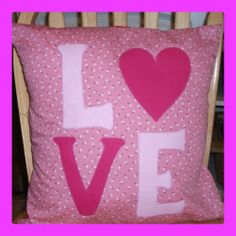 LOVE cushion - The Supermums Craft Fair