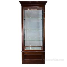 Antique Victorian Display Cabinet From Grant Of Ed - Antiques Atlas Large Furniture, Antique Furniture, Antique Display Cabinets, Almost Perfect, Glass Shelves, Victorian, The Originals, Antiques, Home Decor
