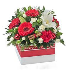 xmas flower arrangements to make - Google Search