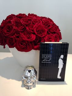 Red roses, Karl and Candles at the CHD Boutique
