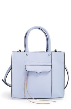 Crushing on this pastel blue Rebecca Minkoff tote.