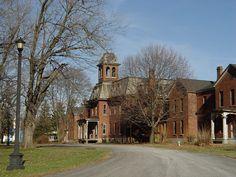 Maples at willard Willard Asylum, Yard, Mansions, House Styles, Patio, Manor Houses, Villas, Mansion, Courtyards