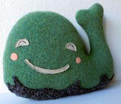 the Whale: Plush Wool Pillow. $60,00, via Etsy.
