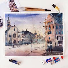 "1,758 Likes, 8 Comments - Watercolor illustrations 🎨 (@watercolor.illustrations) on Instagram: ""🎨 Watercolorist: @alisa.kosareva  #waterblog #акварель #aquarelle #painting #drawing #art #artist…"""