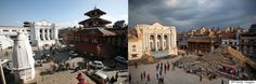 Before And After Photos Show Devastating Effect Of Quake On Nepals Landmarks