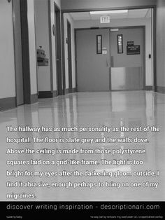 A creative essay about in hospital