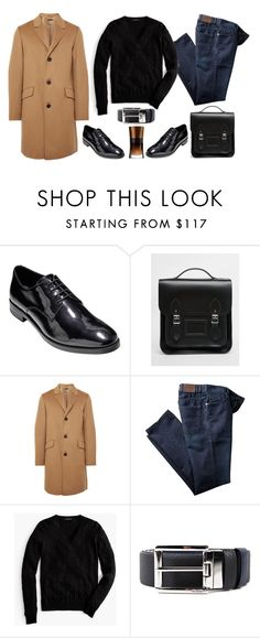 """Menswear Winter wardrobe"" by thestyleartisan ❤ liked on Polyvore featuring Cole Haan, The Cambridge Satchel Company, Theory, J.Crew, Prada, Giorgio Armani, mens, men, men's wear and mens wear"
