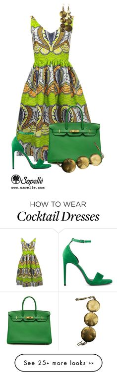 """Look 1"" by sapellestyle on Polyvore featuring Yves Saint Laurent and Hermès"