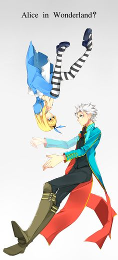 Tags: Alice In Wonderland, Devil May Cry, Pixiv, Vergil, Alice (Alice In Wonderland), Haine (Howling)