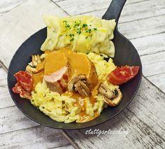 stuttgartcooking: Schwaben-Pfännle mit Kartoffelsalat
