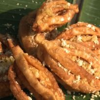 Panasa Thonalu (Flower kaajas) is a traditional #Andhra sweet that is easy to make, good to look at and absolutely delicious.