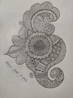 Basic Mehndi Designs, Indian Mehndi Designs, Latest Bridal Mehndi Designs, Henna Art Designs, Mehndi Designs For Beginners, Wedding Mehndi Designs, Mehndi Images, Mehndi Drawing, Mandala Drawing