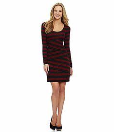 Maybe a bday dress?  MSSP LongSleeve Scoopneck Asymmetrical Dress #Dillards