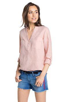 Esprit / airy blouse in a linen blend
