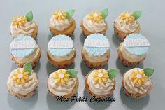 Happy Birthday Daisy Flower Cupcakes