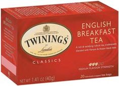 """Ana's Cure-All:  Twinings English Breakfast Tea, weak and black.  """"I pop the teabag into the teapot and almost immediately fish it out again with my teaspoon. . .'I like my tea black and weak,' I mutter as an explanation. (Book 1, Page 40)"""