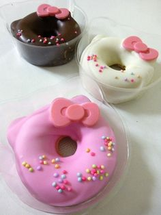 Hello Kitty Cake Donuts (SO DOING THIS when Haleigh has her little friends over for a sleepover!!!!)