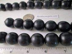 Wood Beads, 20mm Round, Black Dyed Wood Bead, Waxed, 20mm Wood Bead, 20mm Black Bead, 2mm Hole, 16 Inch Strand, QTY 1 - wb140 by FLcowgirls on Etsy #beadsforsale #woodbeads