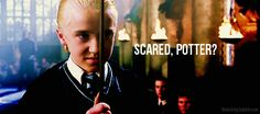 That time before he beat the magic out of Draco Malfoy. | 22 Times When Harry Potter's Bitch Face Was Better Than Yours