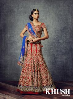 Reign in red with a bridal lehenga by AYAH Couture  By Appointment only +44(0)7932 583 964 info@ayahcouture.com www.ayahcouture.com  Hair & Makeup: Gini Bhogal - Beauty Just Around The Corner Jewellery: Anees Malik