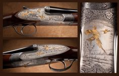 Fabbri .410 side by side shotgun with bulino game scenes and gold by Thomasini. From the Petersen Gallery, and to be featured in the upcoming Treasures of the National Firearms Museum book.