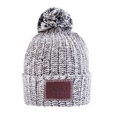 2832998febf Black Speckled Knit Pom Beanie (130 PEN) ❤ liked on Polyvore featuring  accessories