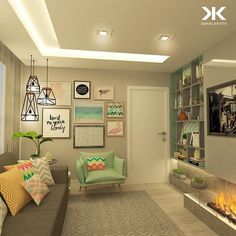 É uma sala de TV que pode funcionar perfeitamente como quarto