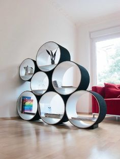 {circle shelves} my cat would love these.