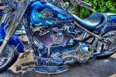 Love the motorcycle and the paint job!