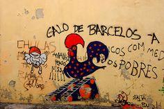 Galo de Barcelos (wall street art)