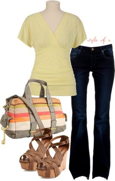 """Striped Bag"" by styleofe on Polyvore"