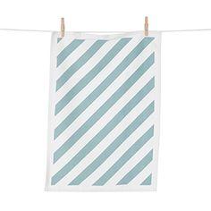 CASANOVA Møbler — ferm LIVING - Stripe Tea Towel - mint/hvid